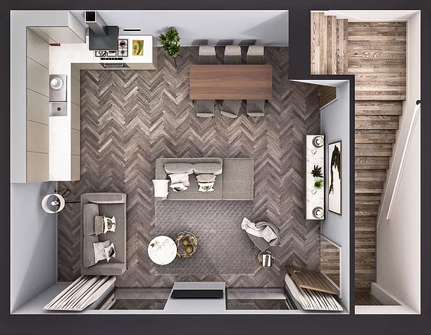 Two Bedroom Duplex - Ground