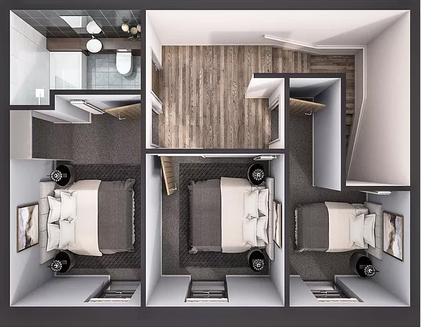 Two Bedroom Duplex - First Floor
